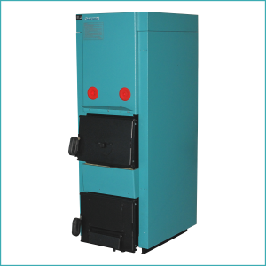 CK 25 wood boiler with hot water tank