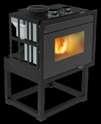 Pellet fireplace 13 - 15 kw