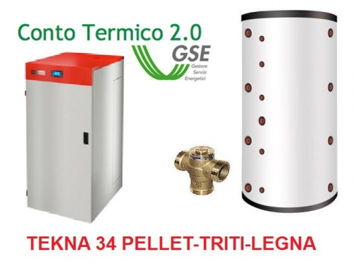 KIT TEKNA 34 PELLET-WOOD