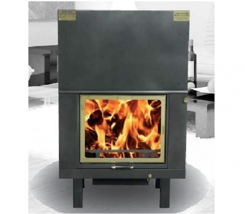 WOOD FIREPLACE 28 kw con ACS