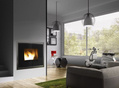 Pellet fireplace 17 kw
