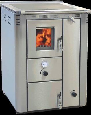 WOOD COOKER 25kw inox steel