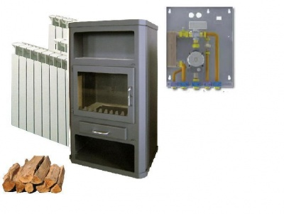 WOOD STOVE LOTOS MAX 30kw AND KIT