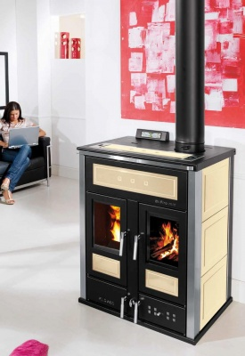 WOOD AND PELLET STOVE BI-FIRE MID