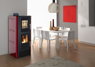 PELLET STOVE WITH OVEN